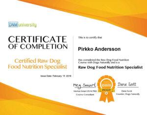 Raw Nutrition Specialist